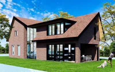 Een moderne villa in het landelijke buurtschap Rietveld